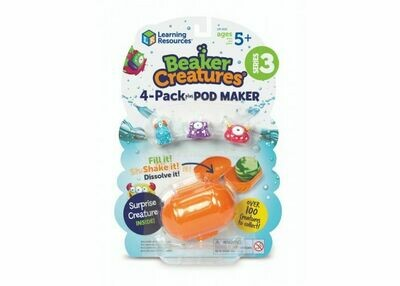 Learning Resources; Beaker Creature 4 Pack with Pod Maker