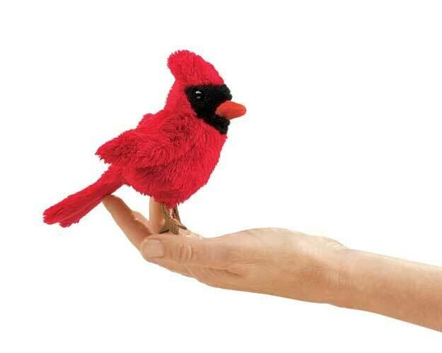 Folkmanis Puppets; Mini Cardinal Finger Puppet