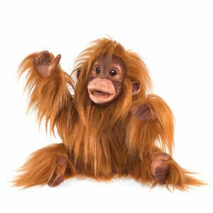 Folkmanis Puppets; Baby Orangutan Puppet