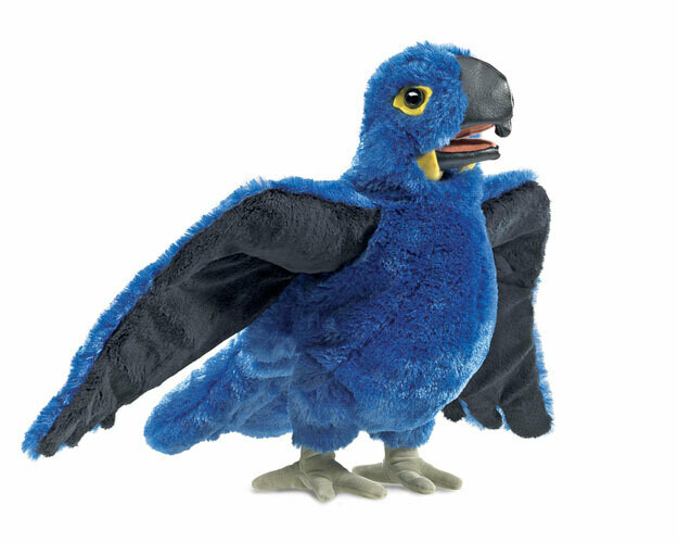 Folkmanis Puppets; Blue Macaw Puppet