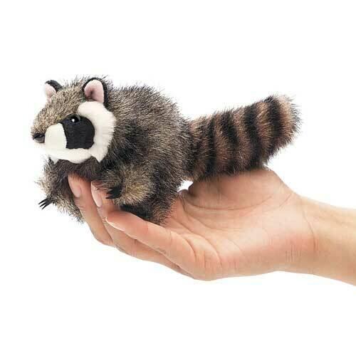 Folkmanis Puppets; Mini Raccoon Finger Puppet