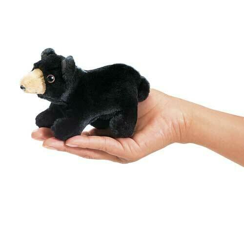 Folkmanis Puppets; Mini Black Bear Finger Puppet