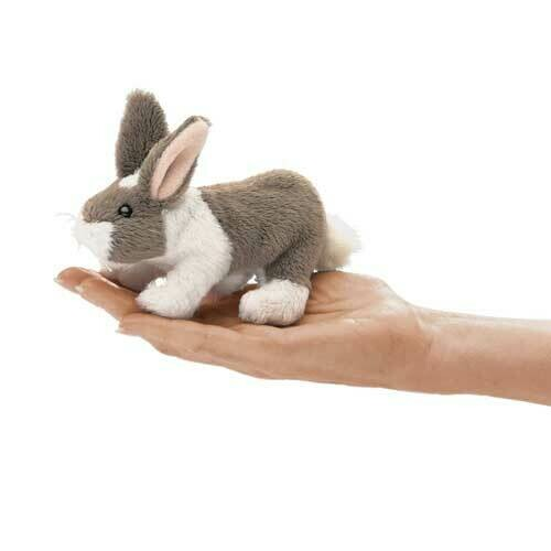 Folkmanis Puppets; Mini Bunny Rabbit Finger Puppet
