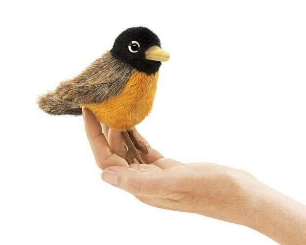 Folkmanis Puppets; Mini Robin Finger Puppet