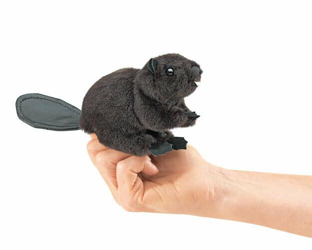 Folkmanis Puppets; Mini Beaver Finger Puppet