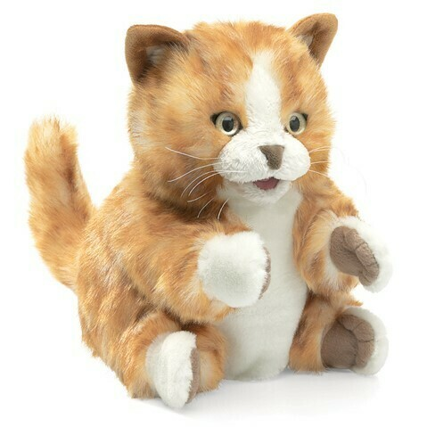 Folkmanis Puppets; Orange Tabby Kitten Puppet