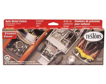 Testors; Auto Detail Enamel Paint Set