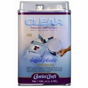 CastinCraft; Clear Polyester Casting Resin - 1 Gallon with 1oz Catalist