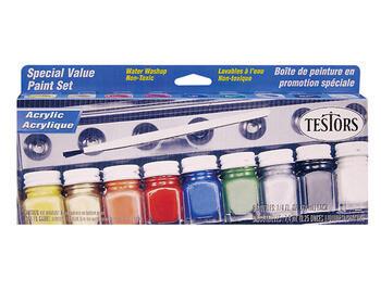 Testors: Acrylic Special Value Paint Set (9 Colours)