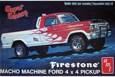 Amt; 1/25 1978 Ford 4X4 Pickup Firestone Super Stones