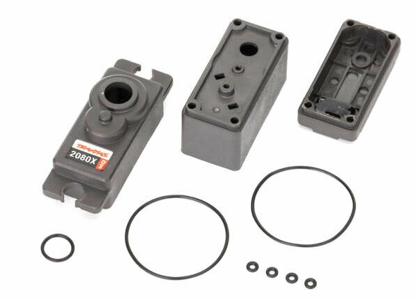 Traxxas; Servo case/ gaskets (for 2080X metal gear, micro, waterproof servo)