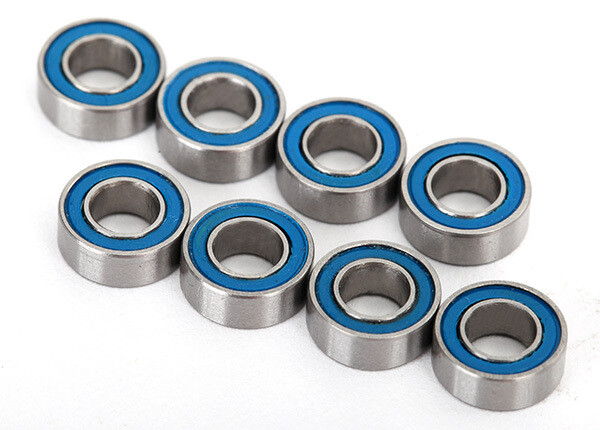 Traxxas; Ball Bearings, Blue Rubber Sealed (4X8X3Mm) (8)
