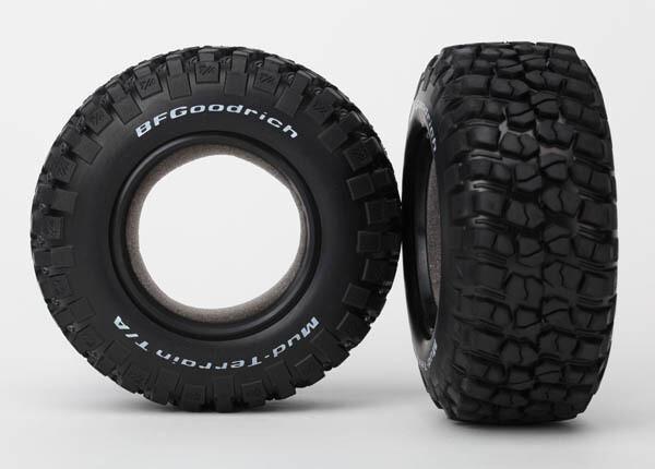 Traxxas; Tires, Bfgoodrich Mud-Terrain  T/A Km2 (Dual Profile 4.3X1.7- 2.2/3.0') (2)/ Foam Inserts