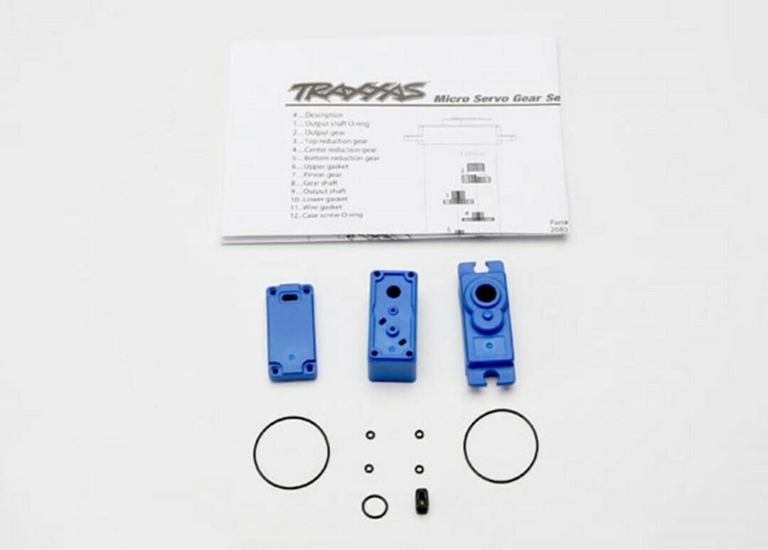 Traxxas; Servo Case/Gaskets for TRA2080 Micro Waterproof Servo
