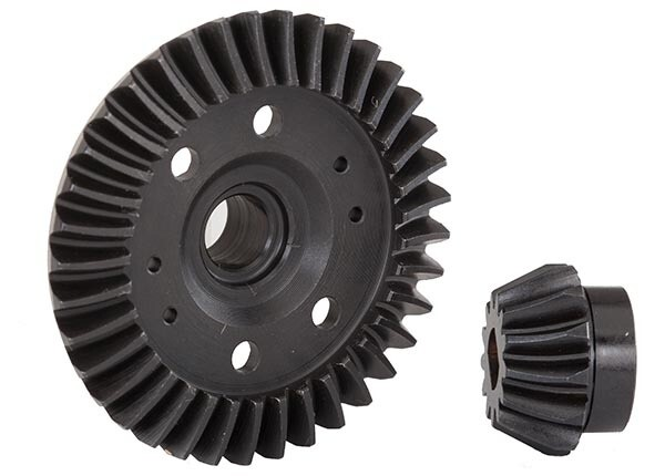 Traxxas; Ring Gear, Differential/ Pinion Gear, Differential (Machined, Spiral Cut) (Rear)