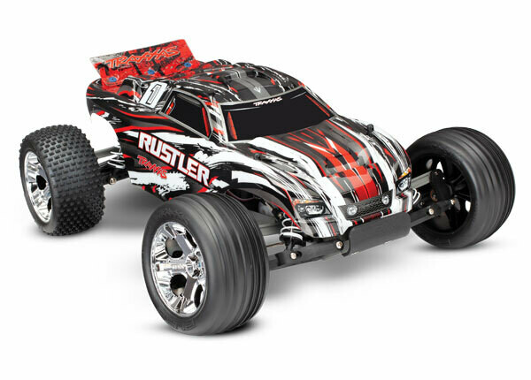 Traxxas; Rustler: 1/10 Scale Stadium Truck, Fully-Assembled, Waterproof, Ready-To-Race, with TQ 2.4GHz Radio System, XL-5 Electronic Speed Control, and ProGraphix Painted Body