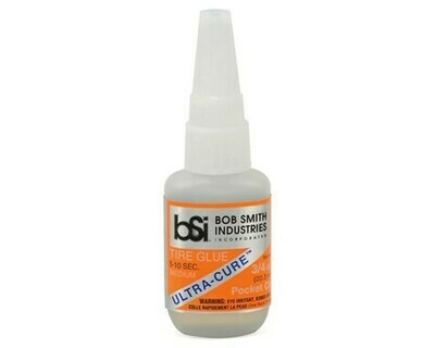 Bob Smith Industries; Ultra-Cure Medium CA Tire Glue W/Pin Cap (3/4Oz)