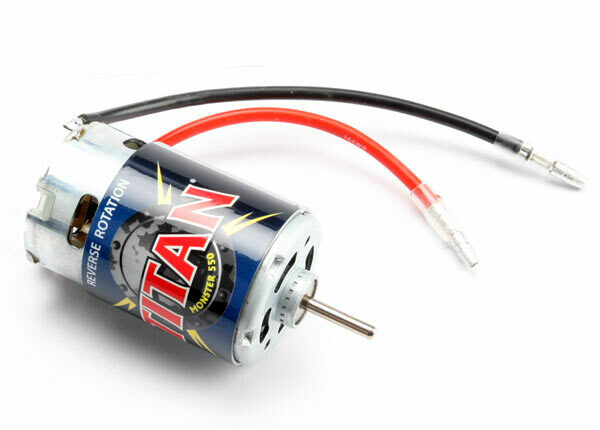 Traxxas; Motor, Titan 550, Reverse Rotation (21-Turns/ 14 Volts) (1)
