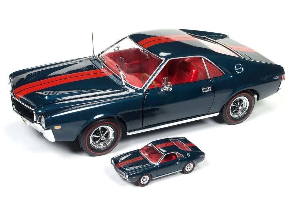 AutoWorld; American Muscle 1/18 1968 Amc Amx Hardtop Class Of 68 (50Th Anniversary & Combine With Jl 1/64 Car)