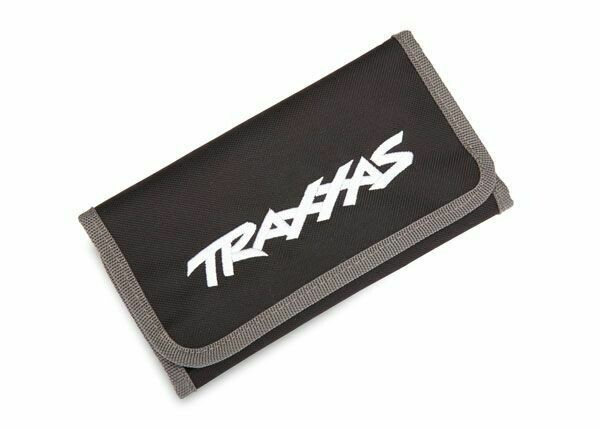 Traxxas; Tool pouch, black (custom embroidered with Traxxas logo)
