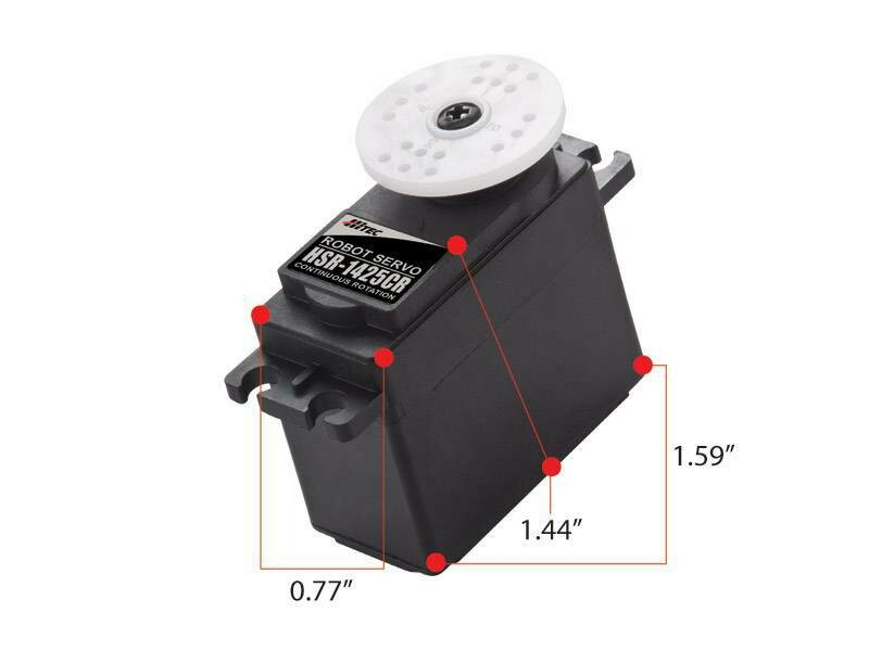 "HiTec; Hs-1425Cr Continous Rotation, Dual Bb Servo (57 Oz/In | 0.16 Sec | 1.4X0.8X1.6"")"