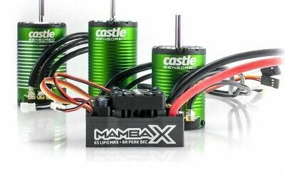 Castle; Creations Mamba X, Sensored, 25.2V Wp Esc,And 1406-4600Kv Combo