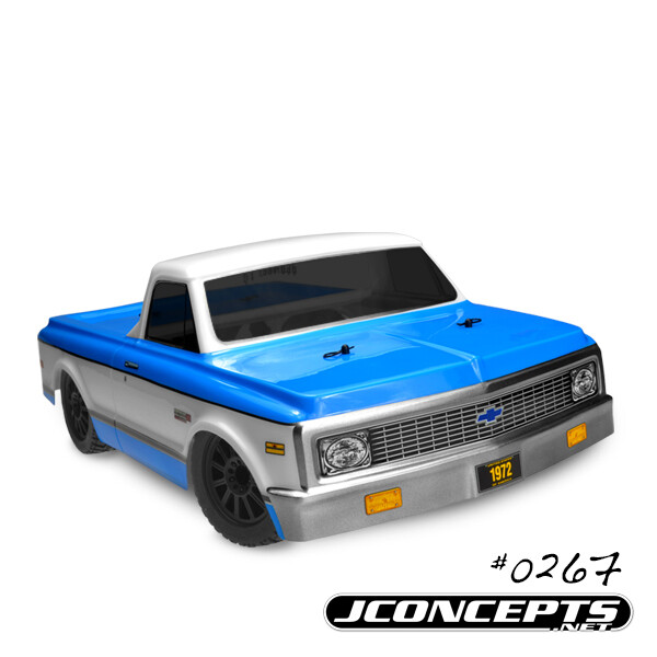 Jconcepts; 1972 Chevy C10 - Scalpel Speed Run Body - Requires #2173 Jc Bumper Conversion Kit