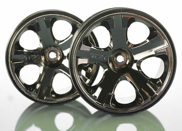 Traxxas; 12Mm Hex Wheels, All-Star 2.8' (Black Chrome)