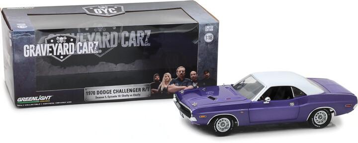 "Greenlight; 1/18 Graveyard Carz (2012-Current Tv Series) - 1970 Dodge Challenger R/T (Season 5 - ""Chally Vs. Chally"")"