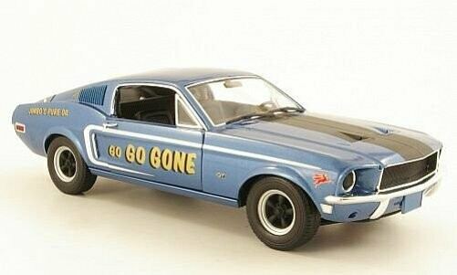 Greenlight; 1/18 1968 Mustang Gt Fastback Jimbos Pure Oil Go Go Gone