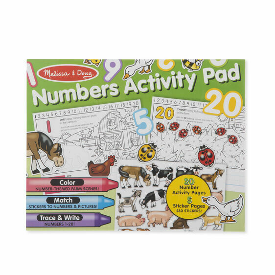 Melissa And Doug; Numbers Activity Pad