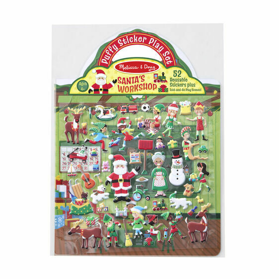 Melissa And Doug; Reusable Puffy Stickers - Santa's  Workshop