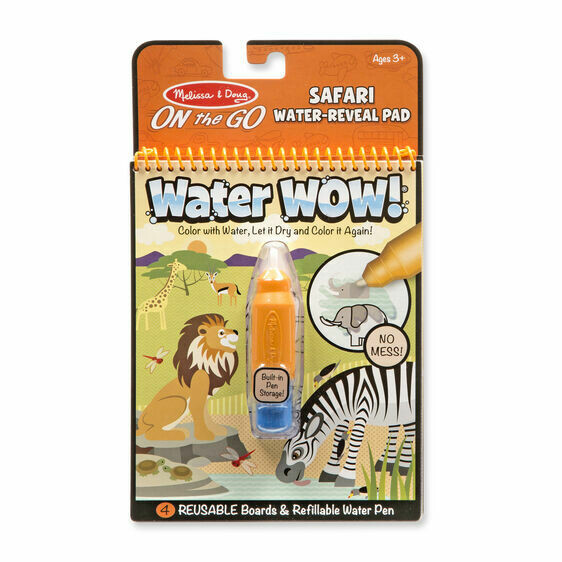 Melissa And Doug; Water Wow! - Safari Water Reveal Pad - ON the GO Travel Activity