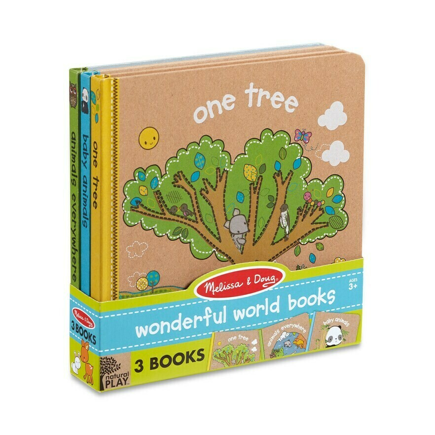 Melissa And Doug; Natural Play Book Bundle