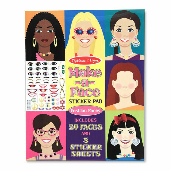 Melissa And Doug; Make-A-Face Sticker Pad
