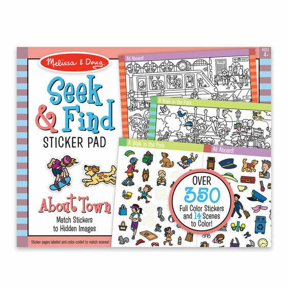 Melissa And Doug; Seek & Find Sticker Pad - Around Town