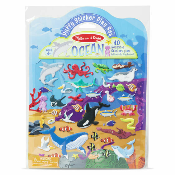 Melissa And Doug; Puffy Sticker Play Set Ocean