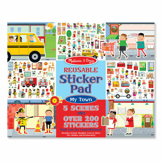 Melissa And Doug; Reusable Sticker Pad - My Town