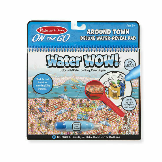 Melissa And Doug; Water Wow Around Town Deluxe Water Reveal Pad