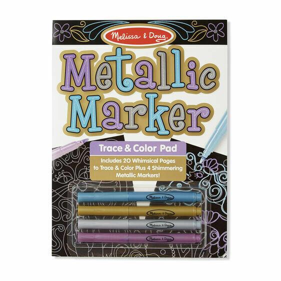 Melissa And Doug; Metallic Marker Trace & Color Pad