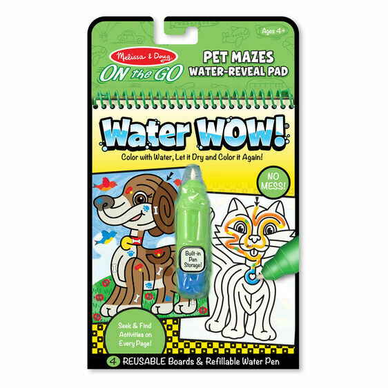 Melissa And Doug; Water Wow! - Pet Mazes