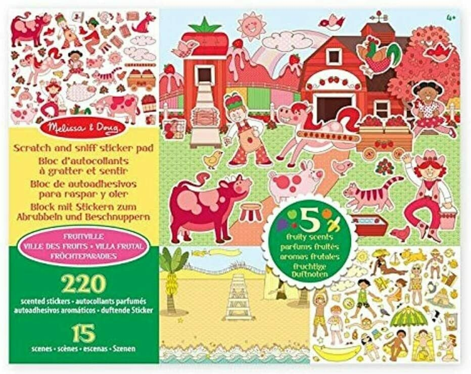 Melissa And Doug; Scratch & Sniff Sticker Pad - Fruitville