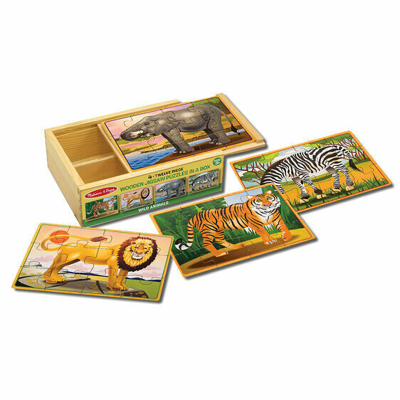 Melissa And Doug; Wild Animals Puzzle In A Box