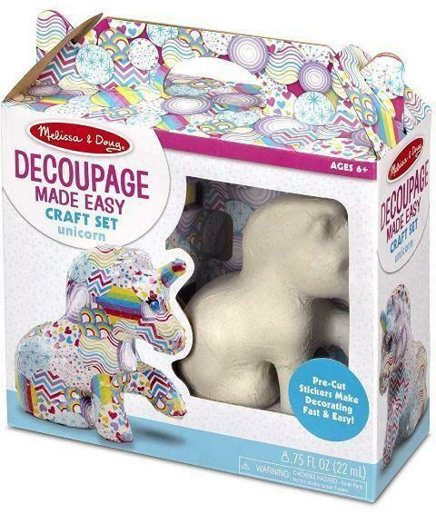 Melissa And Doug; Decoupage Made Easy - Unicorn