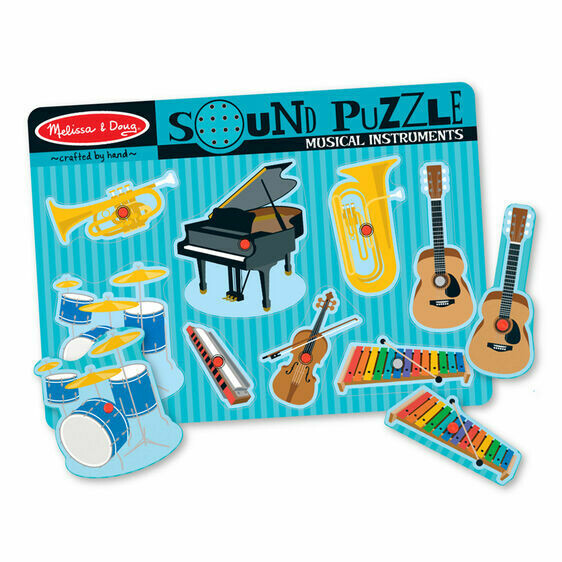 Melissa And Doug; Sound Puzzle - Musical Instruments