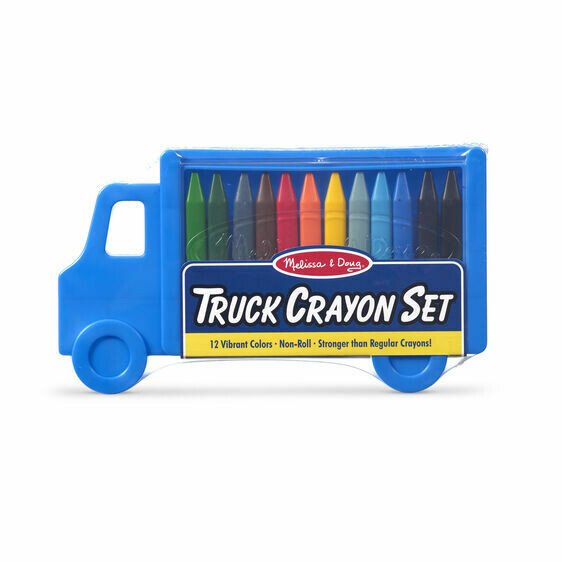 Melissa And Doug; Truck Crayon Set