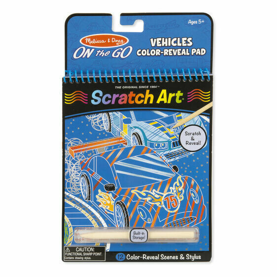 Melissa And Doug; Vehicles Color-Reveal Pad