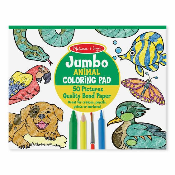Melissa And Doug; Jumbo Colouring Pad - Animals