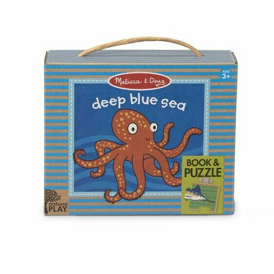 Melissa And Doug; Natural Play Book & Puzzle: Deep Blue Sea