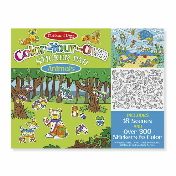 Melissa And Doug; Color Your Own Sticker Pad - Animals